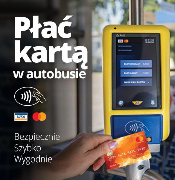 Płać kartą w autobusie