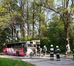 MPK bada przyczyny pożaru autobusu w dniu 17.05.2017 r.